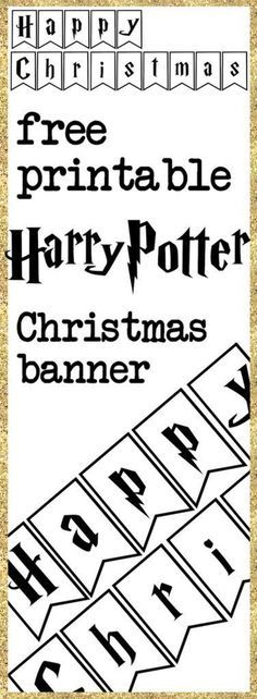 This easy DIY Harry Potter Happy Christmas banner is perfect for a Harry Potter Christmas Party. Harry Potter Diy, Birthday Harry Potter, Natal Do Harry Potter, Harry Potter Banner, Harry Potter Pillow, Harry Potter Thema, Harry Potter Classroom, Harry Potter Christmas Decorations, Harry Potter Christmas Tree