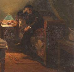 @seccogladys: @TwoReaders Ora voleva agire bene #Ilcommesso #Malamud Lionello Balestrieri NELLO STUDIO, 1910 CA.