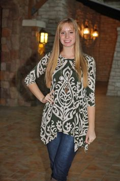 Emma Tunic - Olive - Final Sale from Paisley Grace Boutique