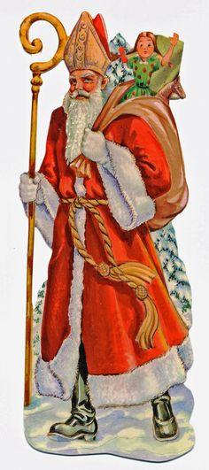 Lebkuchenbilder 100 STÜCK Sankt Nikolaus 11cm Glanzbilder Geprägt Motiv Von 1900 | eBay