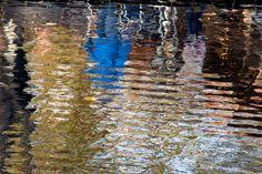 reflection of people, Vondelpark, Amsterdam