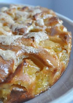 Moelleux aux pommes et sa croute croustillante - La popotte de Manue