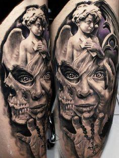 Skull Tattoos 64 - 80 Frightening and Meaningful Skull Tattoos <3