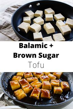 Brown sugar and balsamic tofu brings the delicious balance of sweetness and tang to your dinner plate. This Balsamic Tofu will become a family favorite! Pesco Vegetarian, Vegetarian Types, Vegetarian Recipes, Tofu Recipes, Crockpot Recipes, Healthy Recipes, Healthy Eats, Free Recipes, World's Best Food