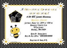 Bumble Bee Unisex Baby Shower Invitations by GMCHDesigns on Etsy, $8.00