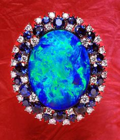 Dreamtime Jewelry: Black Opal and diamond Ring