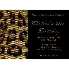 Leopard Invitation Leopard Printable Invitation Birthday