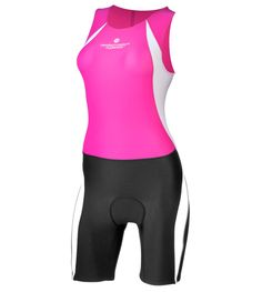 Womens Triathlon Competition Skin Suit Pink