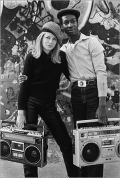 Tina Weymouth (bassist for Talking Heads) & Grandmaster Flash...with boom boxes :)