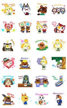 ¡Los stickers del mundo de Animal Crossing! Un bosque lleno de animales simpáticos.