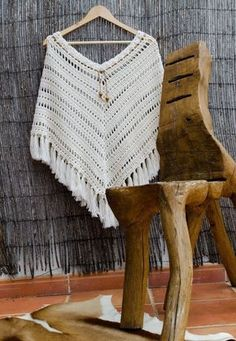 2393.- Ponchos de Crochet | Labores en Red