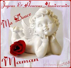 Heureux Anniversaire ma douce Maman Home Pictures, Great Pictures, Home Interior, Happy Birthday, Happy Birthday Mom, Paper, Woman, Happy Aniversary, Happy Brithday