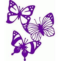 Silhouette Design Store - View Design #77428: butterflies
