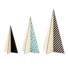 Cut-Out Christmas Trees - Set of 3