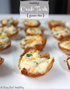 Healthy Crab Tarts - These are so easy to make, and gluten-free. Its so hard to find appetizers that aren't made with pastry!