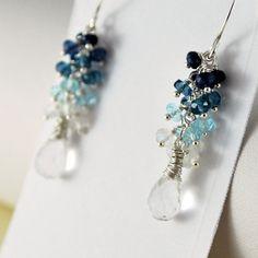 Winter Wedding Earrings Crystal Quartz London Blue by livbridal, $150.00