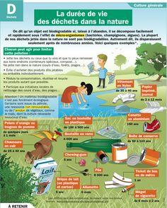 Fiche exposés : La durée de vie des déchets dans la nature