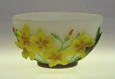 """Oleander"" pate de verre bowl by EM Studio Glass."