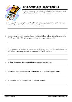 grade 6 halloween worksheets halloween dictation instructions and answer keys included where. Black Bedroom Furniture Sets. Home Design Ideas
