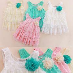 2013 infant baby girls lace dresses children clothing for autumn -summer kids princess flower tutu dress 4colors pink cake dress $7.98 - 8.50
