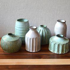 Hand-carved bud vase