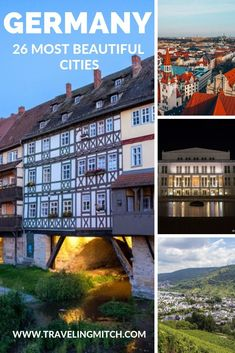 It's a difficult thing to assess what cities to include when we're talking about the most beautiful cities in Germany and that's because Germany has some truly magnificent cities. Here are a list of the 26 most beautiful cities in Germany. Cities In Germany, Visit Germany, Germany Europe, Germany Travel, Holidays Germany, Road Trip Europe, Most Beautiful Cities, World Heritage Sites, Vacation Trips
