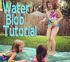 Simple DIY summer activity. Water BLOB.
