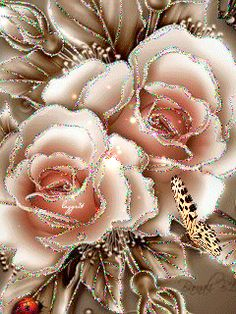 See the PicMix Glittering roses. Art Floral, Deco Floral, Flowers Gif, Exotic Flowers, Beautiful Gif, Beautiful Roses, Beautiful Butterflies, Pretty Flowers, Yellow Roses