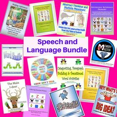 This bundle features receptive and expressive language materials to help students master main ideas & details, inferences, vocabulary skills and more. Learn more! What's The Big Idea, Working Memory, Making Inferences, Good Presentation, Speech And Language, Language Arts, Help Teaching, Public Speaking, Art Activities