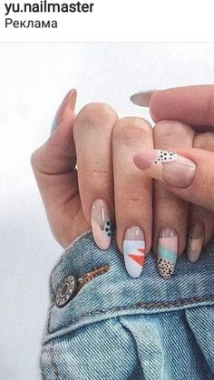 Nail Artwork / Almond Shape Nails / Different Nail Patterns Inspo Dope Nails, Get Nails, Fancy Nails, How To Do Nails, Pretty Nails, Hair And Nails, Minimalist Nails, Almond Shape Nails, Almond Nails