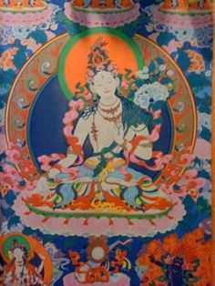 Tibetan Thangka detail Buddhist Meditation, Tibetan Buddhism, Buddha, Zen, Spirituality, Painting, Detail, Painting Art, Spiritual