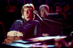Barry Manilow at a recording studio in Hollywood, Los Angeles