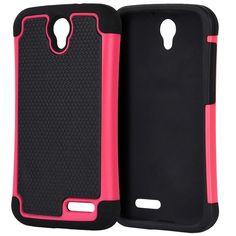 DW Grippy Hybrid ZTE Grand X3 / Warp 7 Case - Hot Pink