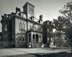 Chapin House, part of Willard Asylum, photographed by Jon Crispin. Seen on mental_floss from Collectors Weekly.