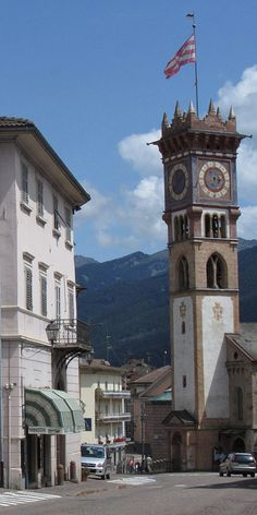 Church in Cavalese, Italy Trento Trentino-Alto Adige