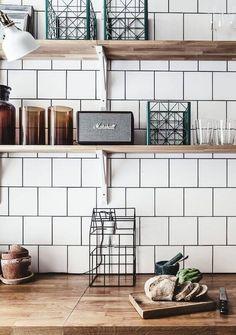 77 Gorgeous Examples of Scandinavian Interior Design Scandinavian-kitchen-with-white-tiles-and-wood-worktops