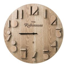 christmas gift guide 2016 10 of the best personalised gifts - Wood Design Diy Clock, Clock Decor, Personalised Gifts Wood, Wood Design, Diy Design, Unusual Gifts For Men, Cool Clocks, Wall Clock Design, Christmas Gift Guide