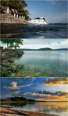 Three of Oklahoma's best and biggest lakes are at fabulous state parks. Grand Lake, Lake Tenkiller and Lake Eufaula (from top to bottom) boast beautiful cabins, breathtaking views and tons of family fun.