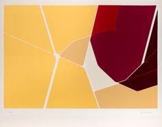 PABLO PALAZUELO  (Madrid, 1916-2007)  Gotila  litografía.  38 x 57 cm.