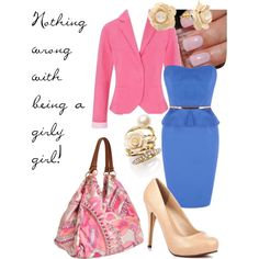 girly outfit from polyvore!<3