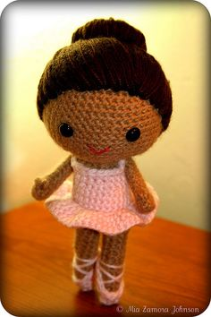I can crochet a little bit...but not like this!!  I'd love to learn how to make and sell crochet dolls...so cute!