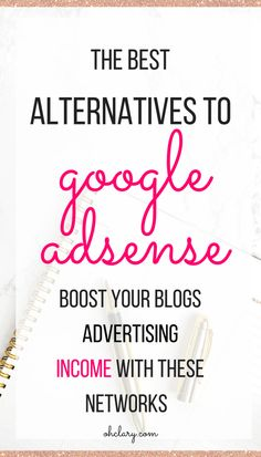 Have you had your Google Adsense account banned? Or are you sick of not making almost any money from Google Adsense? Whatever the reason, it is time to change! I have listed some great Google Adsense Alternatives to help you increase your blog income. make money blogging, advertising income, blog income, make money blogging, blog income tips, adsense alternatives, adsense for bloggers, media.net ads, google adsense wordpress, google adsense for beginners #makemoneyblogging Earn Money Online, Make Money Blogging, How To Make Money, Facebook Marketing, Affiliate Marketing, Google Ads, Blogger Tips, Blogging For Beginners, How To Start A Blog