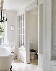 decor, baths, interior, toilet room, old windows, toilets, glass walls, white bathrooms, room dividers