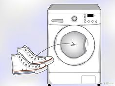 How to Clean White Converse. White Converse shoes look great when they're brand new, but they may develop a less appealing shade after a significant amount of use. Converse Noir, White Converse Shoes, White Nike Shoes, How To Clean White Converse, How To Clean Vans, Natural Cleaning Solutions, Natural Cleaning Products, Cleaning White Vans, Tela