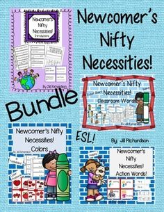 This bundle includes four products to help make your new ELL's transition into your classroom easier!Priced separately: $20.00  You save $5.00!!It includes:Newcomer's Nifty Necessities! Introductions Newcomer's Nifty Necessities! Classroom/School Words Newcomer's Nifty Necessities!