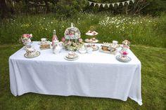 Summer Secret Garden tea party, vintage tea party wedding, Sweetpea and Ivy wedding decor.