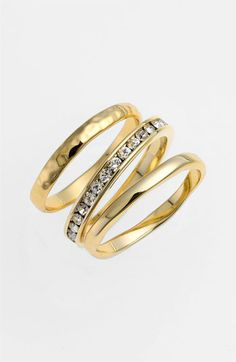 Ariella Collection Stackable Rings (Set of 3) (Nordstrom Exclusive) available at #Nordstrom