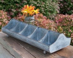 The Bobbie-Sue is all farmhouse. Heck, let's be honest, she's all barnyard! Feed Trough Caddy x x Shown with flower frog, not included. Home Decor Styles, Home Decor Accessories, Diy Home Decor, Sewing Accessories, Country Decor, Rustic Decor, Primitive Decor, Primitive Country, Rustic Chic