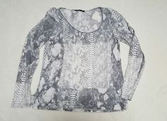 Elie Tahari Womens S long sleeve knit top, gray and white, EUC | Clothing, Shoes & Accessories, Women's Clothing, Tops & Blouses | eBay!