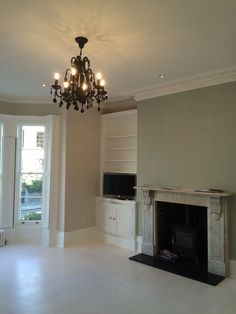 Snug Room With Feature Wall Paper